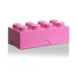 LEGO box na svačinu 100x200x75mm - růžový