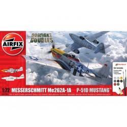 Airfix Messerschmitt Me262, P-51D Mustang (1:72) (Giftset)