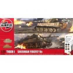 Airfix Tiger 1, Sherman Firefly Vc (1:72) (Giftset)