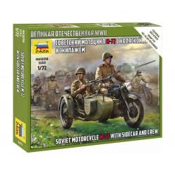 Zvezda figurky - Soviet M-72 Sidecar Motorcycle w/Crew...