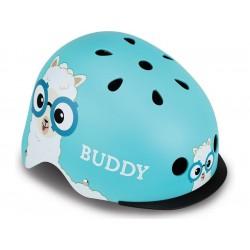 Globber - Dětská přilba Elite Lights Sky Blue Buddy XS/S