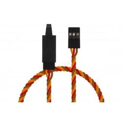 JR020 prodlužovací kabel kroucený 30cm JR s pojistkou (PVC)
