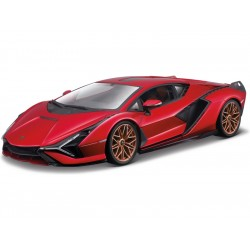Bburago Lamborghini Sián FKP 37 1:18 červená