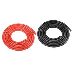 Silikonový kabel 3,5qmm, 14AWG, 2x1metr, černý a červený