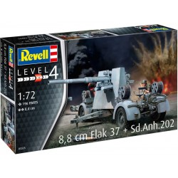 Revell Flak 37 88mm, Sd.Anh.202 (1:72)