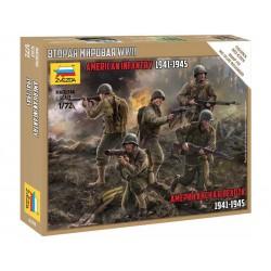 Zvezda figurky - US Infantry WWII (1:72)