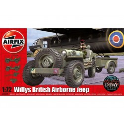 Airfix military Willys Jeep, Trailer & 6PDR Gun (1:72)