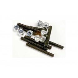 Červíky imbus ocel M3x25mm (8), matice M3 (8)