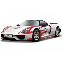 Bburago Porsche 918 Weissach 1:24 bílá