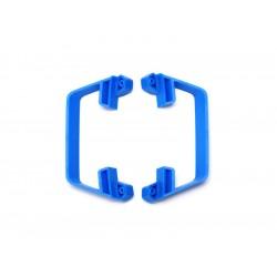 Slash 1/10 2WD: Boční nárazníky LCG šasi modré