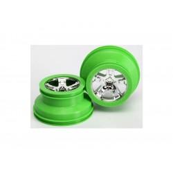 """Disk kola přední 2.2/3.0"""" SCT chrom/zelený (2)"""