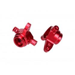 Traxxas - přední hliníková těhlice červená (P+L)