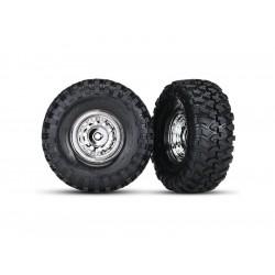 """Traxxas kolo 1.9"""" chromové s pneu Canyon Trail (2)"""