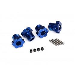 Traxxas náboj kola hliníkový modrý 17mm (4)