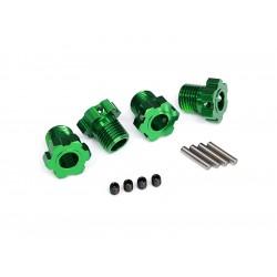 Traxxas náboj kola hliníkový zelený 17mm (4)