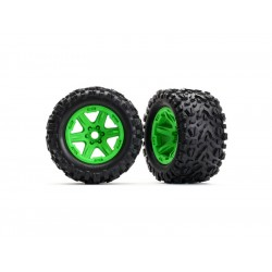 """Traxxas kolo 3.8"""" zelené, pneu Talon EXT s vložkou (2)"""