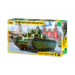 Zvezda těžký sovětský tank T-35 (1:35)