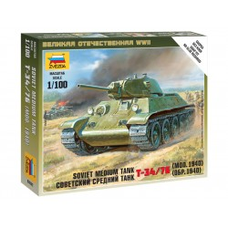Zvezda Easy Kit Soviet Medium Tank T-34/76 (1:100)