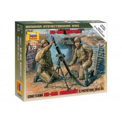 Zvezda figurky - sovětský 82mm minomet s vojáky (1:72)