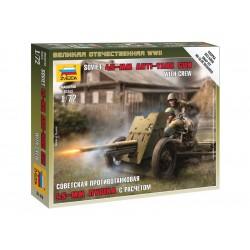 Zvezda figurky - sovětské protitankové dělo 45mm (1:72)