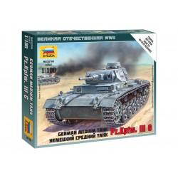 Zvezda Easy Kit German Tank Panzer III (1:100)