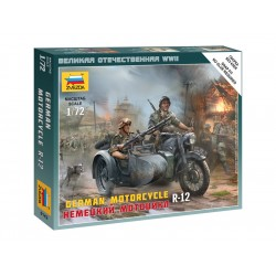 Zvezda Easy Kit German Motorcycle R-12 (1:72)