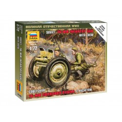 Zvezda Easy Kit Soviet 76-mm Gun (1:72)
