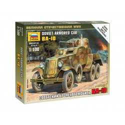 Zvezda Easy Kit Soviet Armored Car BA-10 (1:100)