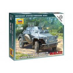 Zvezda Easy Kit Sd.Kfz.222 Armored Car (1:100)