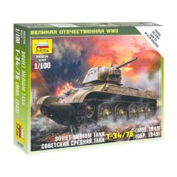 Zvezda Easy Kit Soviet Medium Tank T-34-76 mod.1943 (1:100)
