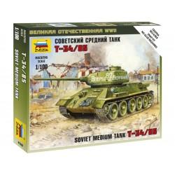 Zvezda Easy Kit Soviet Medium Tank T-34/85 (1:100)