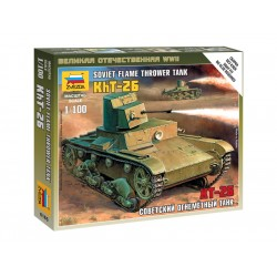 Zvezda Easy Kit T-26 Flamethrower Tank (1:100)