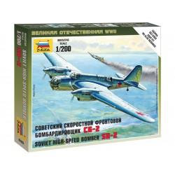 Zvezda Easy Kit Soviet Bomber SB-2 (1:200)