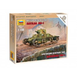 "Zvezda Easy Kit British Light Tank ""Matilda Mk I"" (1:100)"