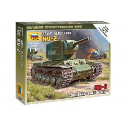Zvezda Easy Kit Soviet Tank KV-2 (1:100)