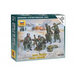 Zvezda figurky Ger. 80mm Mortar with Crew (Winter Unif.)...
