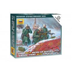 Zvezda figurky Ger. Machine-gun with Crew (Winter...