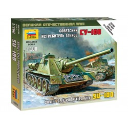 Zvezda Easy Kit Self-propelled Gun SU-100 (1:100)