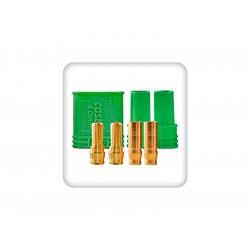 Castle zlacený konektor 4mm (pár)
